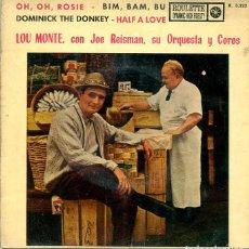 Discos de vinilo: LOU MONTE CON JOE REISMAN / OH,OH ROSIE + 3 (EP ROULETTE 1961). Lote 283025228