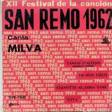 Disques de vinyle: MILVA (SAN REMO 1967) / TANGO ITALIANO + 3 (EP CETRA 1962). Lote 283030728