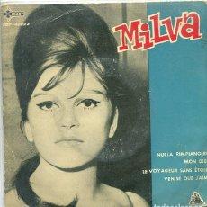 Disques de vinyle: MILVA / NULLA RIMPIANGERO + 3 (EP CETRA 1962). Lote 283030893
