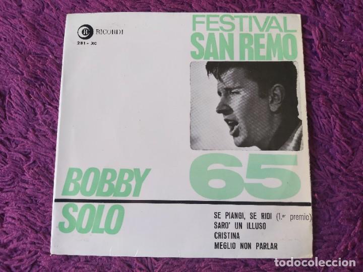 """BOBBY SOLO – FESTIVAL SAN REMO 65, VINYL 7"""" EP 1965 SPAIN 281 - XC (Música - Discos de Vinilo - EPs - Pop - Rock Internacional de los 50 y 60)"""