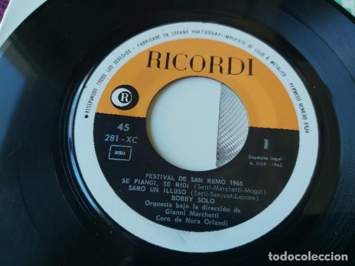"Discos de vinilo: Bobby Solo – Festival San Remo 65, Vinyl 7"" EP 1965 Spain 281 - XC - Foto 3 - 283066038"