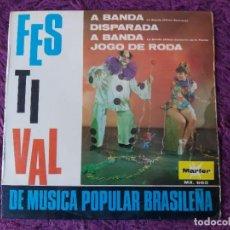 "Discos de vinilo: FESTIVAL DA MUSICA POPULAR BRASILEÑA, VINYL 7"" EP 1967 SPAIN MR. 660. Lote 283069488"