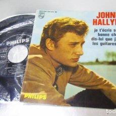 Discos de vinilo: JOHNNY HALLYDAY --BONNE CHANCE & DIS-LUI QUE J´EN REVE + 2- AÑO 1964 -VINILO/FUNDA MINT M+. Lote 283071688