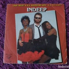 "Discos de vinilo: INDEEP – LAST NIGHT A D.J. SAVED MY LIFE ,VINYL 7"" SINGLE 1983 SPAIN MBR. 20.378 S. Lote 283086008"