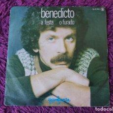 """Discos de vinilo: BENEDICTO – A FESTA ,VINYL 7"""" SINGLE 1978 SPAIN G-21001. Lote 283091078"""