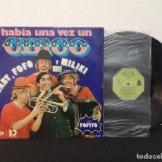 Disques de vinyle: ANTIGUO DISCO VINILO DE LOS PAYASOS DE LA TELE. HABÍA UNA VEZ UN CIRCO. Lote 283158543