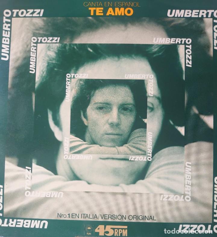 UMBERTO TOZZI MAXI-SINGLE SELLO EPIC EDITADO EN ESPAÑA AÑO 1977 PROMOCIÓNAL... (Música - Discos de Vinilo - Maxi Singles - Canción Francesa e Italiana)