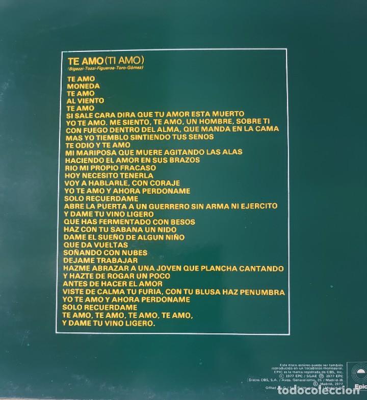 Discos de vinilo: Umberto Tozzi Maxi-single sello Epic editado en España año 1977 promociónal... - Foto 2 - 283162683