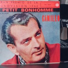 Discos de vinilo: CAMILLO-EP PETIT BONHOMME +3-EUROVISION 1962-NUEVO. Lote 283181243