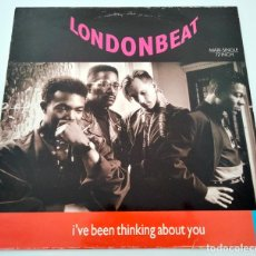 Discos de vinilo: VINILO MAXI SINGLE DE LONDONBEAT. L'VE BEEN THINKING ABOUT YOU. 1990.. Lote 283181323