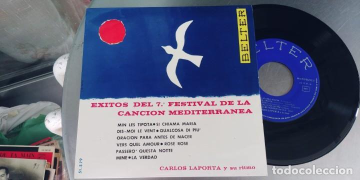 CARLOS LAPOTA-EP EXITOS DEL 7ª FESTIVAL DE LA CANCION MEDITERRANEA (Música - Discos de Vinilo - EPs - Otros Festivales de la Canción)
