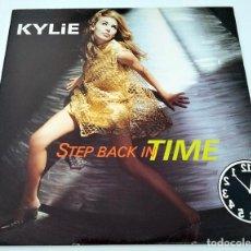 Discos de vinilo: VINILO MAXI SINGLE DE KYLIE MINOGUE. STEP BACK IN TIME. 1990.. Lote 283182668
