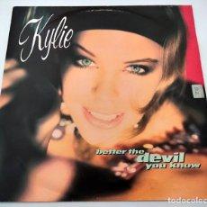 Discos de vinilo: VINILO MAXI SINGLE DE KYLIE MINOGUE. BETTER THE DEVIL YOU KNOW. 1990.. Lote 283182783