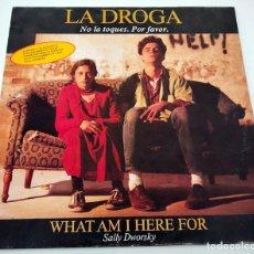Discos de vinilo: VINILO MAXI SINGLE DE SALLY DWORSKY. WHAT AM I HERE FOR. 1989.. Lote 283185033