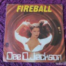 "Discos de vinilo: DEE D. JACKSON – FIREBALL, VINYL 7"" SINGLE 1979 SPAIN 1-10.035. Lote 283186253"