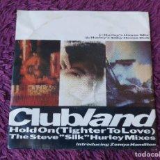 "Discos de vinilo: CLUBLAND INTRODUCING ZEMYA HAMILTON – HOLD ON ,VINYL 7"" SINGLE UK 1989 9031-75624-7. Lote 283201353"