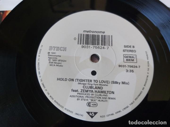 "Discos de vinilo: Clubland Introducing Zemya Hamilton – Hold On ,Vinyl 7"" Single UK 1989 9031-75624-7 - Foto 5 - 283201353"
