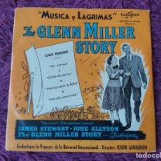 """Discos de vinilo: """"MÚSICA Y LÁGRIMAS"""" THE GLENN MILLER STORY ,VINYL 7"""" EP SPAIN CGE 60.025. Lote 283205838"""
