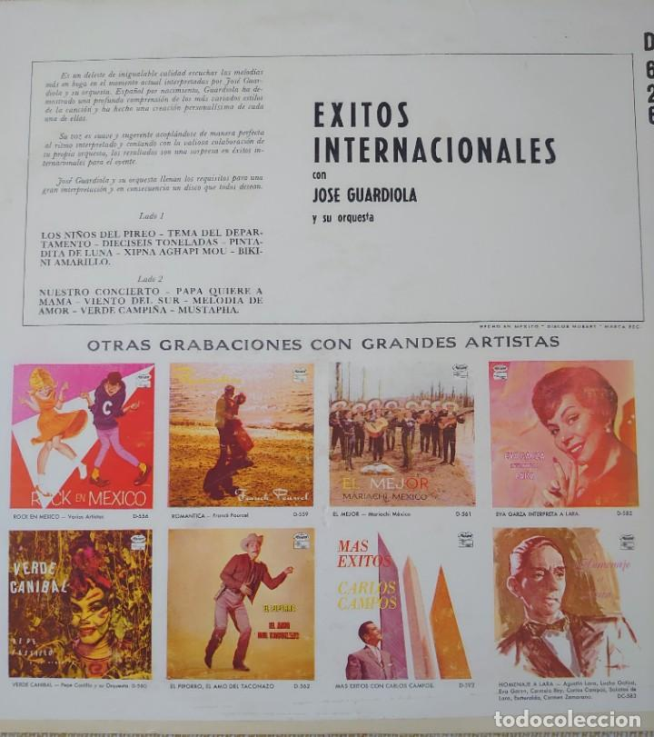 Discos de vinilo: José Guardiola Lp sello Musart editado en México.. - Foto 2 - 283239013
