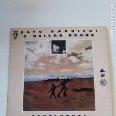 Discos de vinilo: GATO BARBIERI & DOLLAR BRAND CONFLUENCE ( 1977 DISCOPHON ESPAÑA ) GRABADO EN 1968 EXCELENTE ESTADO. Lote 283262288