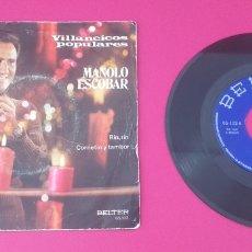 Discos de vinilo: SINGLE VINILO VILLANCICOS POPULARES MANOLO ESCOBAR. Lote 283265718