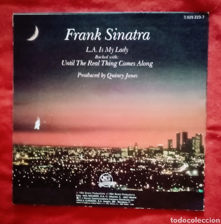 """1984 ANTIGUO VINILO 7 """" 45RPM EP. FRANK SINATRA - L. A. IS MY LADY, UNTIL THE REAL THING COMES ALONG (Música - Discos de Vinilo - EPs - Jazz, Jazz-Rock, Blues y R&B)"""