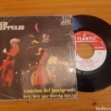 Discos de vinilo: LED ZEPPELIN. CANCION DEL INMIGRANTE. SINGLE. ESP. Lote 283315123
