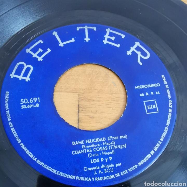 Discos de vinilo: Disco de vinilo de 45rpm de Los P y P de 1963 - Foto 6 - 283321388