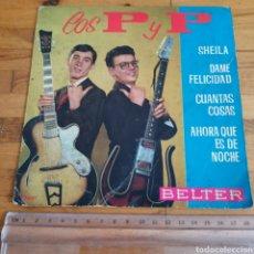 Discos de vinilo: DISCO DE VINILO DE 45RPM DE LOS P Y P DE 1963. Lote 283321388