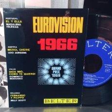 Discos de vinilo: EUROVISION 1966-EP MADALENA IGLESIAS UDO JURGENS DOMENICO MODUGNO MILLY SCOTT.-NUEVO. Lote 283371523