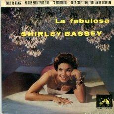 Discos de vinil: SHIRLEY BASSEY / APRIL IN PARIS + 3 (EP LA VOZ DE SU AMO 1963). Lote 283447868