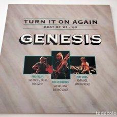 Discos de vinilo: VINILO LP RECOPILATORIO DE GENESIS. TURN IT ON AGAIN (BEST OF 81-83). 1991.. Lote 283454688