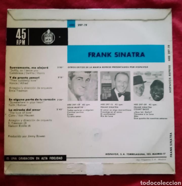 """Discos de vinilo: 1964 Antiguo Vinilo 7""""45 RPM, EP Frank Sinatra Suavemente Me Alejaré, Y De Pronto ¡Amor!... - Foto 2 - 283456618"""