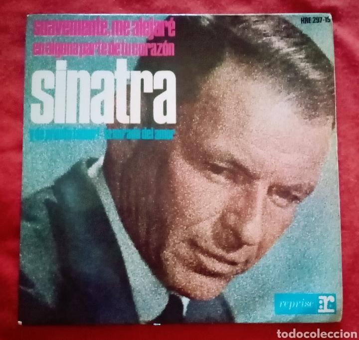 """1964 ANTIGUO VINILO 7""""45 RPM, EP FRANK SINATRA SUAVEMENTE ME ALEJARÉ, Y DE PRONTO ¡AMOR!... (Música - Discos de Vinilo - EPs - Jazz, Jazz-Rock, Blues y R&B)"""