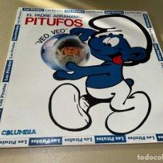 Discos de vinil: LP DISCO VINILO EL PADRE ABRAHAM Y SUS PITUFOS VEO VEO. Lote 283467333