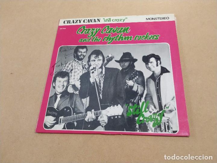 LP 10 PULGADAS CRAZY CAVAN AND THE RHYTHM ROCKERS - STILL CRAZY - DEDICATORIAS L. NEEDS Y S. VANCE (Música - Discos - LP Vinilo - Rock & Roll)