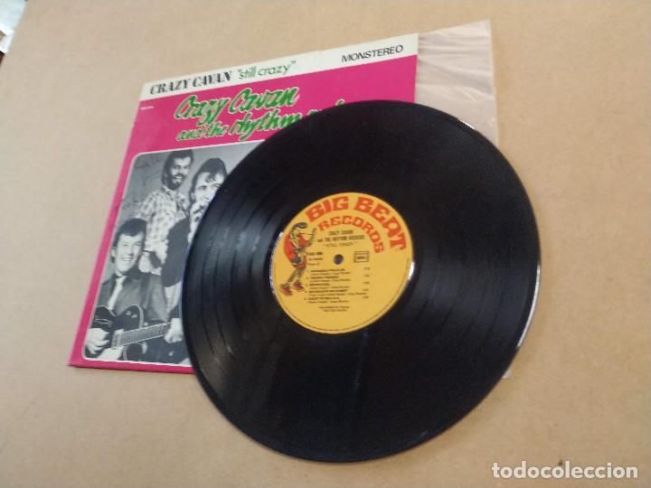 Discos de vinilo: LP 10 PULGADAS CRAZY CAVAN AND THE RHYTHM ROCKERS - STILL CRAZY - DEDICATORIAS L. NEEDS Y S. VANCE - Foto 3 - 283664488