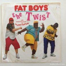 Discos de vinilo: FAT BOYS WITH STUPID DEF VOCALS BY CHUBBY CHECKER – THE TWIST (YO, TWIST!) / THE TWIST (BUFFAPELLA). Lote 283703593