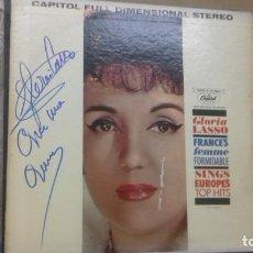 Discos de vinilo: GLORIA LASSO .LP EDITADO EN USA CON FIRMA Y DEDICATORIA. Lote 283717158