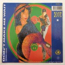 Discos de vinilo: BOMB THE BASS – DON'T MAKE ME WAIT / MEGABLAST UK,1988. Lote 283748178