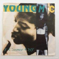 "Discos de vinilo: YOUNG MC – I COME OFF (7"" REMIX) / I COME OFF (LP VERSION) GERMANY,1990 ISLAND RECORDS. Lote 283824373"