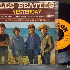 Discos de vinilo: THE BEATLES - LES BEATLES YESTERDAY + 3 EP FRANCIA 1965 PEPETO TOP. Lote 283843578