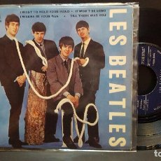 Discos de vinilo: THE BEATLES - LES BEATLES I WANT TO HOLD YOUR HAND + 3 EP FRANCIA 1964 PEPETO TOP. Lote 283843708