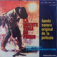 Discos de vinilo: LA MUERTE TENIA UN PRECIO - ENNIO MORRICONE - BSO EP. Lote 283853568