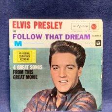 Discos de vinilo: DISCO ELVIS PRESLEY FOLLOW THAT DREAM RCA 45RPM 1962 18X18CMS. Lote 284087268