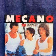 Discos de vinilo: DISCO MECANO 33RPM 20 GRANDES CANCIONES COMPLETO 2 DISCOS ALBUM 1989 CBS 31X31CMS. Lote 284090123