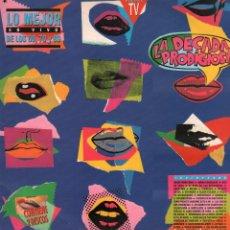 Dischi in vinile: LA DECADA PRODIGIOSA - LO MEJOR EN VIVO DE LOS 60, 70 Y 80 / 2 LP HISPAVOX 1990 RF-10151. Lote 284142958