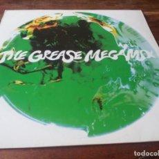 Discos de vinilo: THE GREASE MEGAMIX JOHN TRAVOLTA & OLIVIA NEWTON JOHN - MAXISINGLE ORIGINAL POLYDOR 1990. Lote 284156943