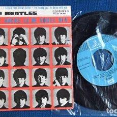 Discos de vinilo: BEATLES SINGLE EP RE EDICION DOBLE REFERENCIA LABEL AZUL CIELO EMI ODEON ESPAÑA AÑOS 70. Lote 284224343