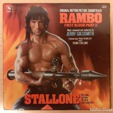 Discos de vinilo: RAMBO JERRY GOLDSMITH VARÈSE SARABANDE USA 1985 MUY BUEN ESTADO!!. Lote 284241058